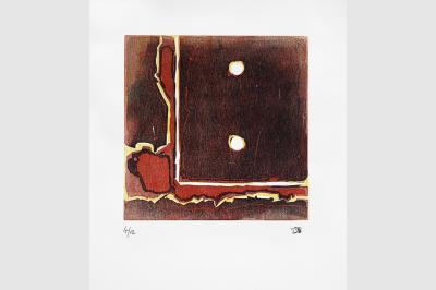 Gravure anfractuosité  sur papier BFK Rive (56 x 38 cm)