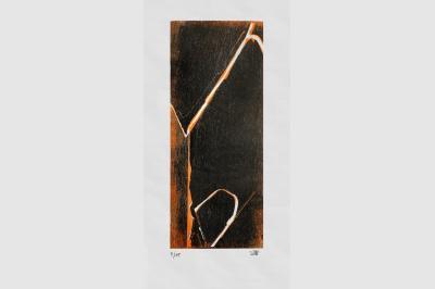 Gravure anfractuosité  sur papier calque (56 x 38 cm)