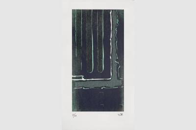 Gravure anfractuosité  sur papier BFK Rive (50 x 33 cm)