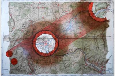 Carte géo ardoise (43.5 x 63 cm)