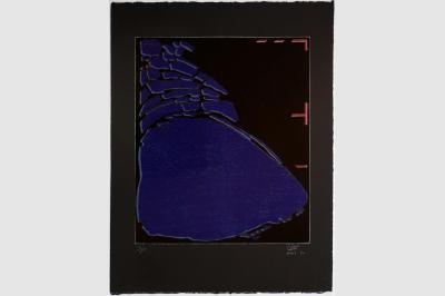 ANFRACTUOSITÉ (sol d'église dans les dolomites) - Gravure sur contreplaqué en épargne perdue -  Papier  BFK Rive teinté en noir - 65x50 cm - Avril 2020