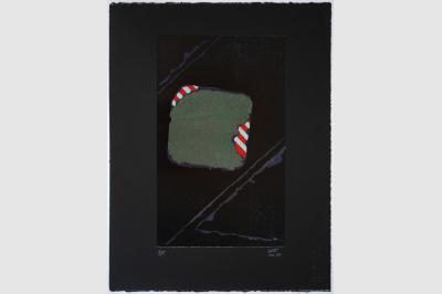 ANFRACTUOSITÉ (sol d'une place du quartier Cannaregio de Venise) - Gravure sur contreplaqué en épargne perdue -  Papier  BFK Rive teinté en noir - 65x50 cm - Mai  2020