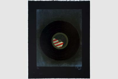 VINYLE 33 tours - Gravure sur contreplaqué en épargne perdue -  Papier  BFK Rive teinté en noir - 65x50 cm - Juillet 2020
