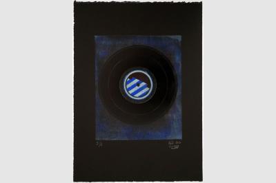 VINYLE 78 tours - Gravure sur contreplaqué en épargne perdue -  Papier  BFK Rive teinté en noir - 56.5x41 cm - Aout 2020