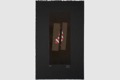 MOULE DE FONDERIE- Gravure sur contreplaqué en épargne perdue -  Papier  BFK Rive teinté en noir - 56.5 x 34.5cm -  Avril 2020