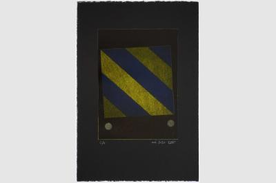 ZÉBRURE I - Gravure sur contreplaqué en épargne perdue -  Papier  BFK Rive teinté en noir - 56.5x38 cm - Mai 2020